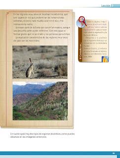 Apoyo Primaria Geografía 4to. Grado Bloque III Lección 3 Las regiones naturales de nuestro país