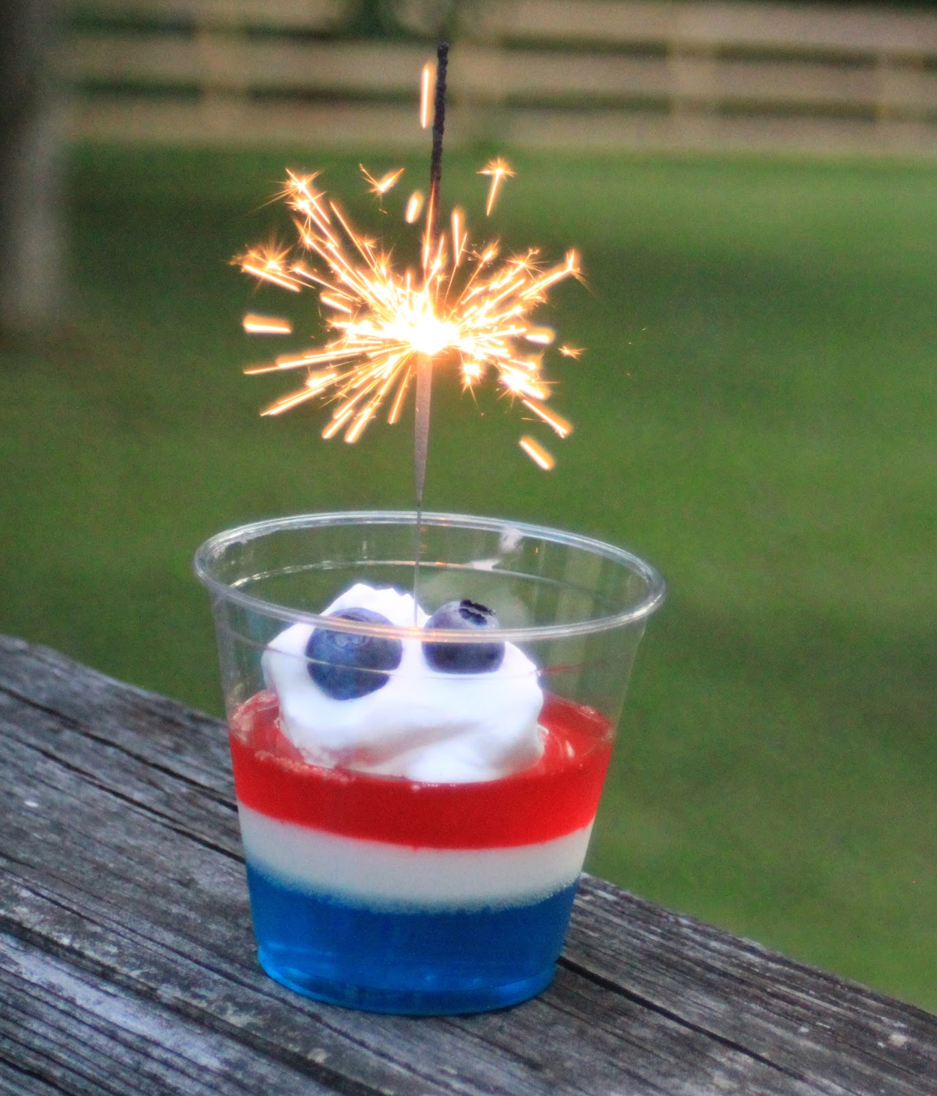 Good Clean Fun: Red, White, and Blue Jello Cups