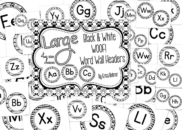 Word Wall Headers and Word Cards