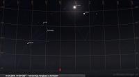 01.05.2018  01:50 CEST - Koniunkcja Księżyca z Jowiszem