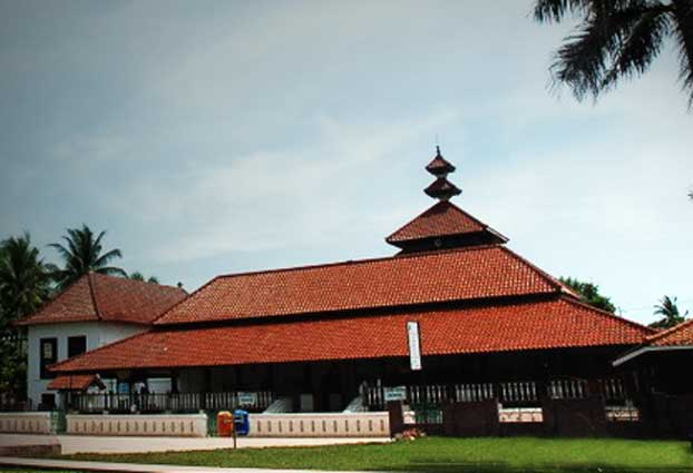 Banten Mosque with its characteristic tower
