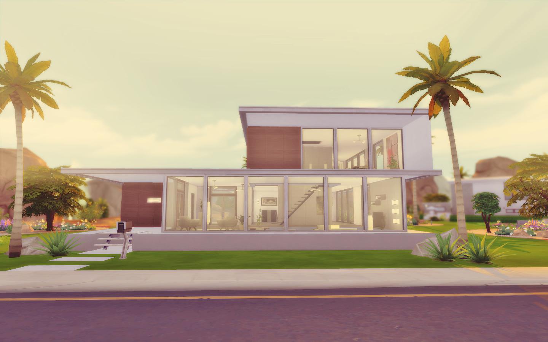 House 06 the sims 4 via sims for Casa moderna sims 2
