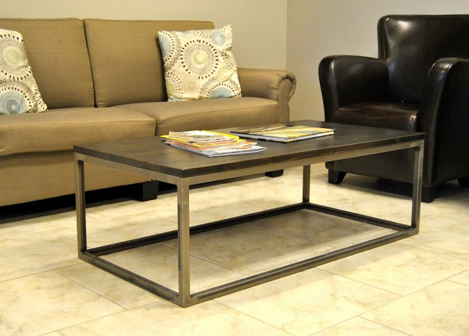 beautiful metal coffee table made by Iron Birch