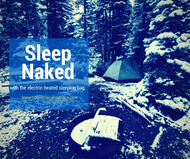 Sleep Naked Everywhere with the Electric Heated Sleeping Bag Liner