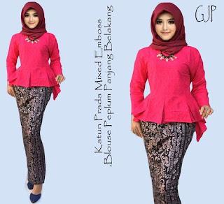 contoh model baju setelan batik