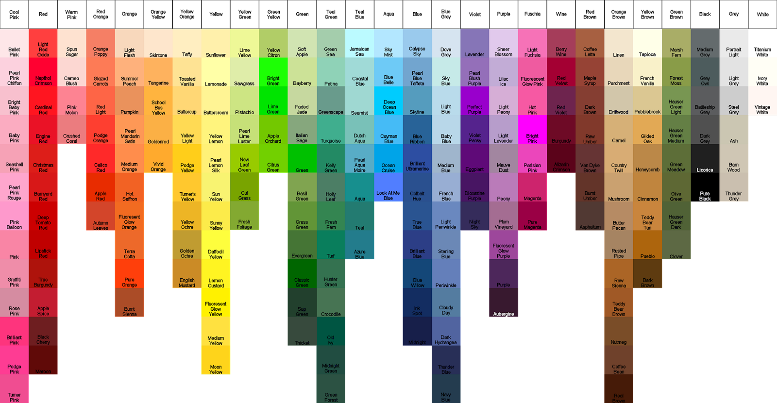 Veras custom quilts color guides delta ceramcoat geenschuldenfo Image collections