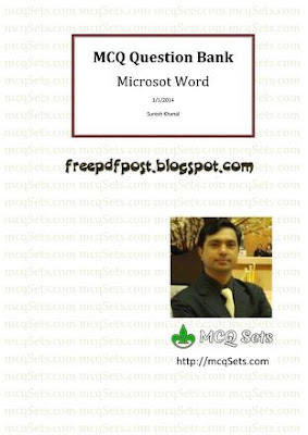 MS Word MCQs with Answers Free Download Pdf book