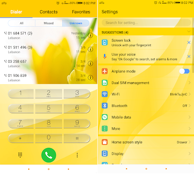 Huawei Theme : Yellow Flowers Theme For EMUI 5.0/5.1