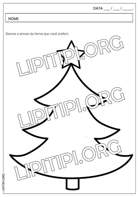 Atividade Natal Decorar Árvore