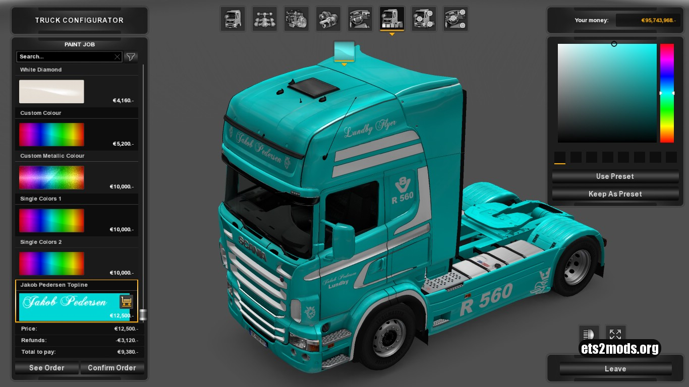 Jakob Pedersen Skin for Scania RJL