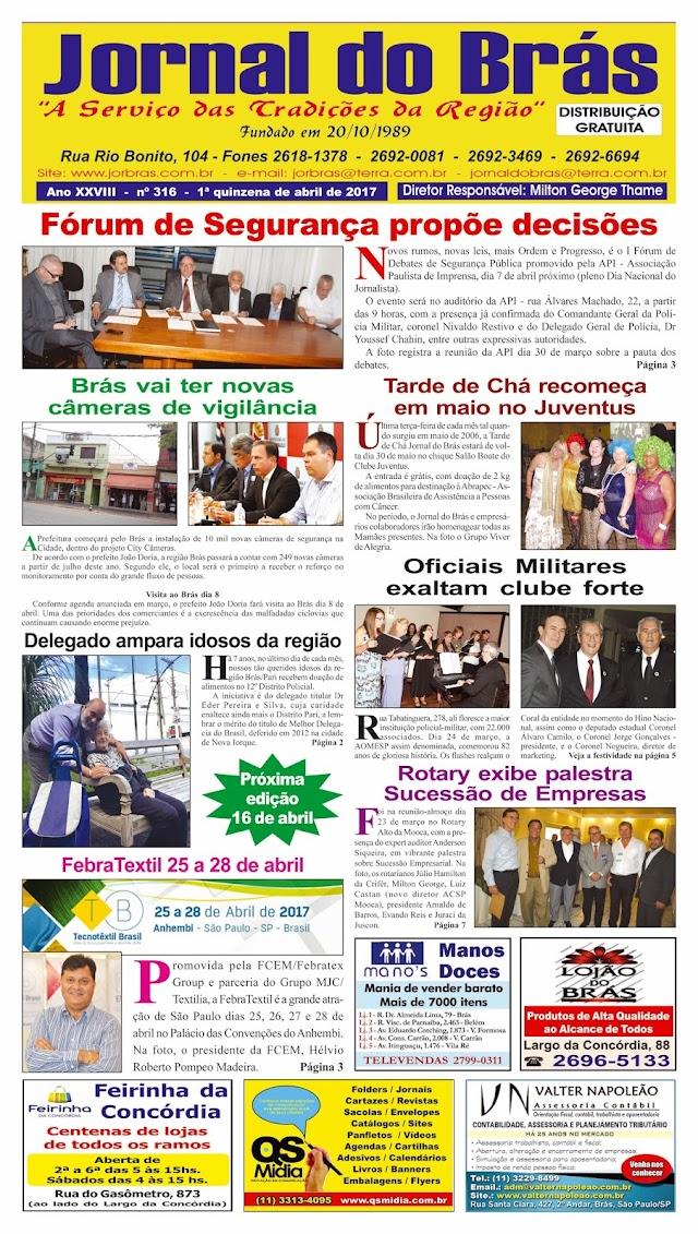 Destaques da Ed. 316 - Jornal do Brás