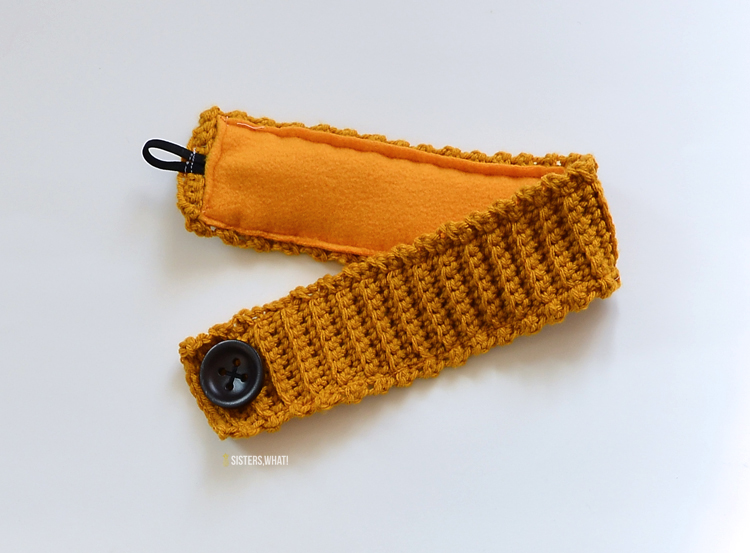 crochet pattern for a headband lined fleece