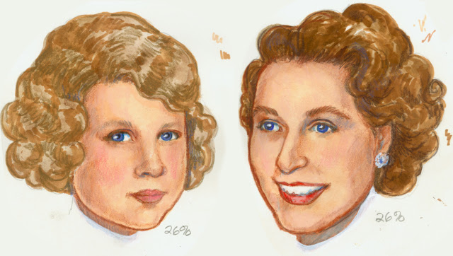 Paper Doll Portraits, Young Princess Elizabeth, Royal Princess Bride