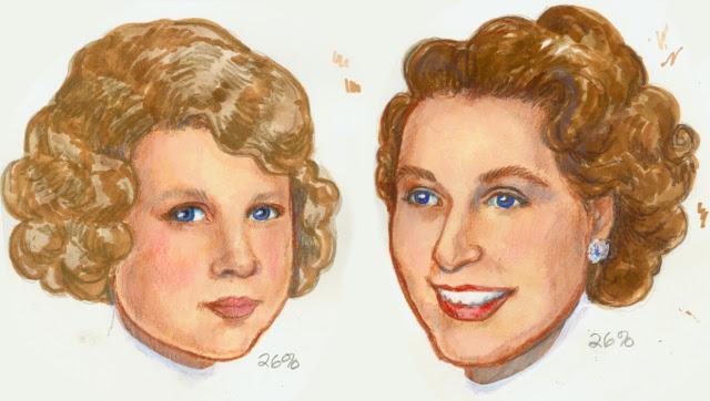 Paper Doll Portraits, Young Princess Elizabeth, Royal Princess Bride
