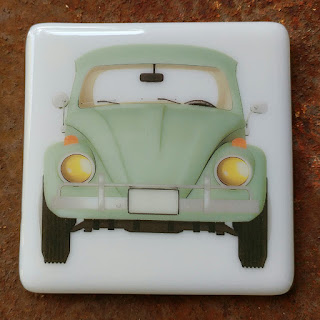 sassy glass studio, fusography, coaster, fused glass, knoxville, tennessee, enamel decal, one-of-a-kind, art
