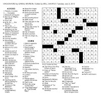 The New York Times Crossword in Gothic: 07.02.13 — The ...