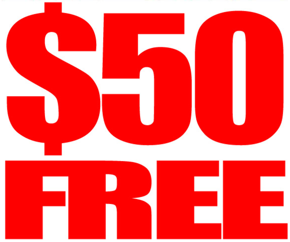 Get $50 FREE from selected RTG Casinos