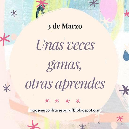 Frase para Hoy - 3 de Marzo #FrasesDiarias