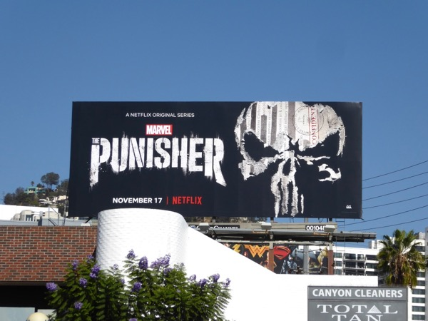 Punisher skull billboard