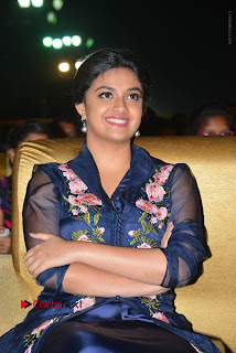 Actress Keerthi Suresh Stills in Blue Long Dress at Nenu Local Audio Launch  0041.JPG