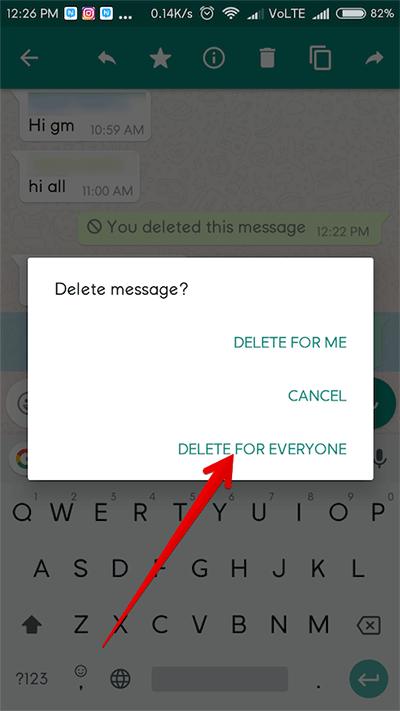 Delete For Everyone Di WA iPhone
