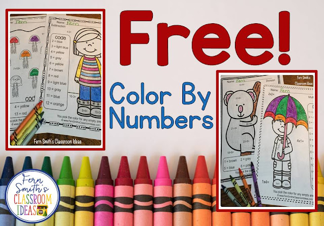 Your students will adore these FREE Color By Numbers worksheets for a mixed basic fact introduction or review. Multiplication, addition, subtraction, and division are all included for your students to learn and review important skills at the same time as having fun in YOUR classroom! You will love the no prep, print and go Color Your Answers Worksheets for addition, division, subtraction, and multiplication with all ANSWER KEYS Included with this FREEBIE on TeacherspayTeachers.