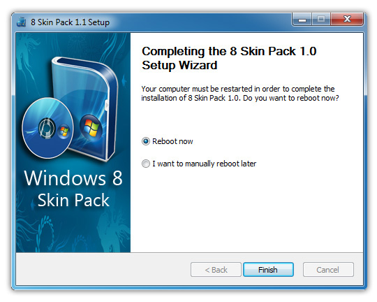 windows 8 skin pack reboot