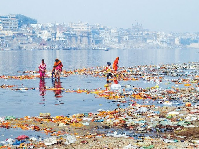 Land of water sighing for clean waters