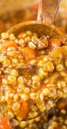 Hearty Beef Barley Soup