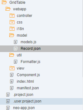 SAPUI5/SAP FIORI snippets and information: View Binding of Grid