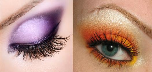 violeta y naranja