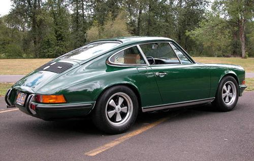 The Cur Color Of My Porsche 911 Irish Green This Is A 1972 Model As You See Ill Fated Oil Tank Flap That Was Removed After One Year Due To It