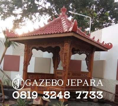 Gazebo Jati Ukir 3 Dimensi Jepara