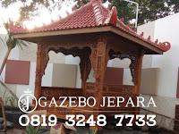 Gazebo Jati Jepara Ukir 3 Dimensi Mewah