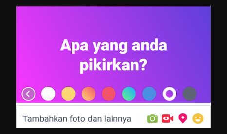 Status Facebook Background Warna warni