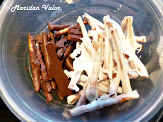 Chocolate covered pretzels by Maridan Valor found on the blog Night Sea 90