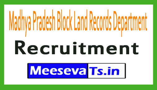Madhya Pradesh Block Land Records Department MP Patwari Recruitment