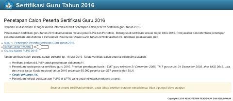 Cek Peserta Sertifikasi Guru 2016 di Website sergur.kemdiknas.go.id