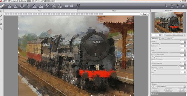 Akvis Oil Paint is very fast to render effect