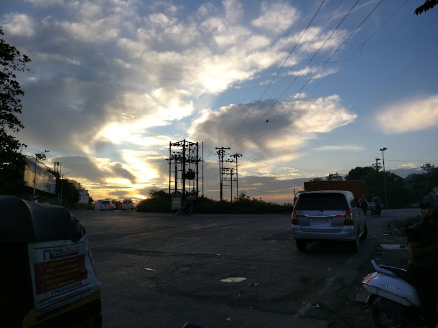 the scenic view of sunrise at chandani chowk