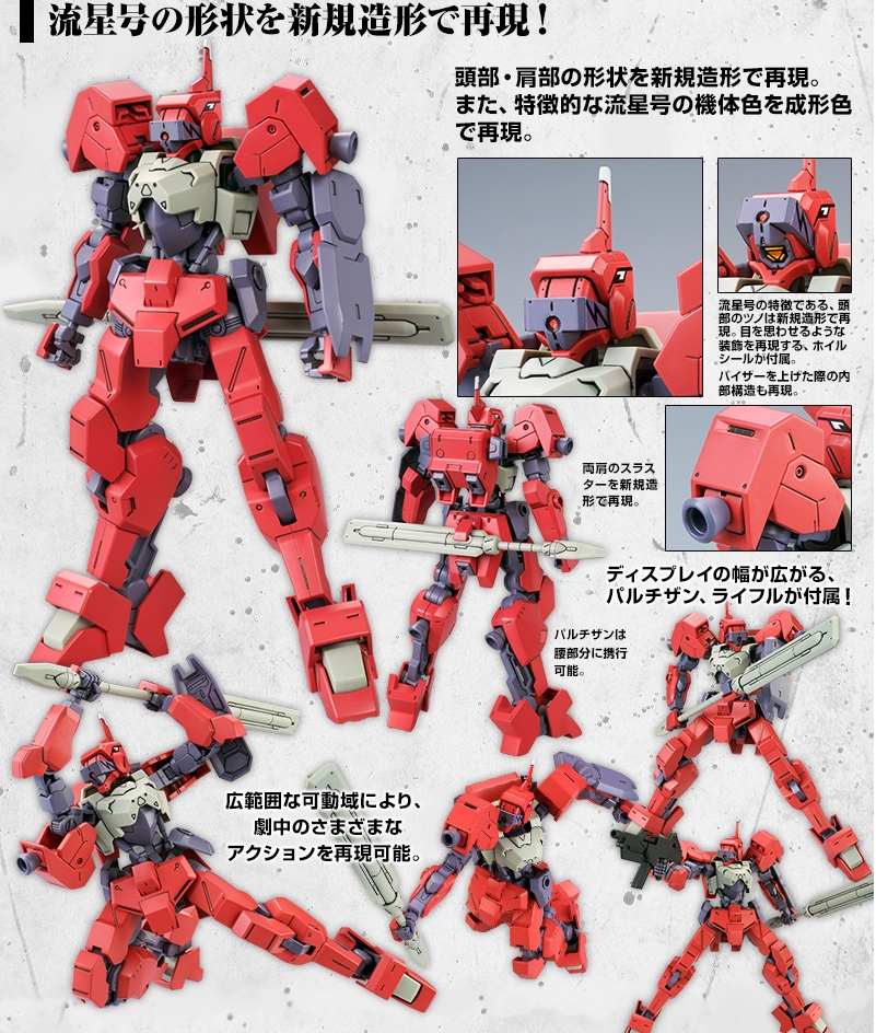 P-Bandai HG 1144 Io-Frame Shiden Custom (Ryusei-Go)