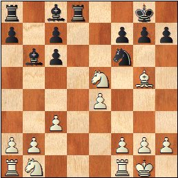 Partida de ajedrez Durao Leal vs Francino, posición después de 11.Ce5