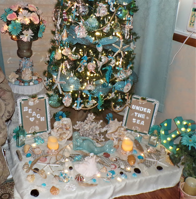 "The ""Beach"" Beneath My ""Under the Sea"" Themed Tree, 2020"