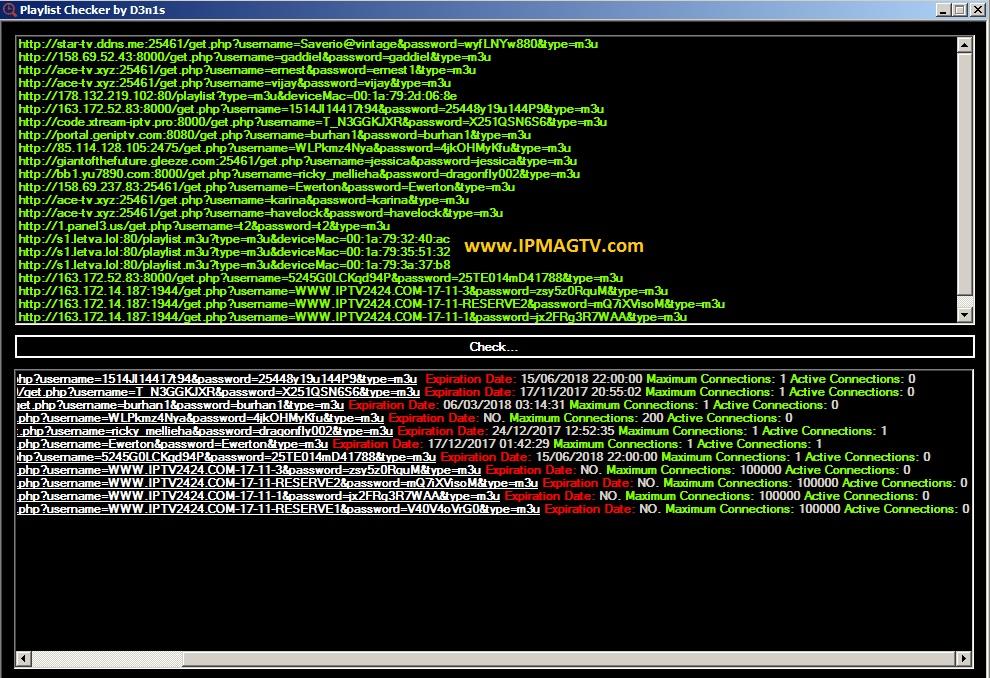 IPTV Playlists Checker - IpMagTv