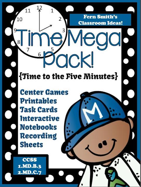 Fern Smith's Classroom Ideas TIME MEGA PACK at TeacherspayTeachers!