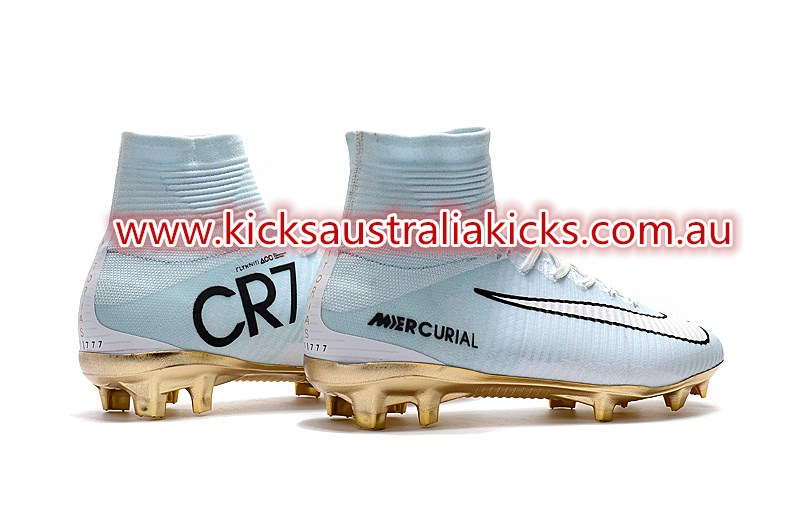 ccbbe05ab3de ... CR7 logo sits on the inside rear of the white and gold Nike Mercurial  Superfly CR7 Ballon d'Or 2016 boots and features the same iridescent  shimmer as ...