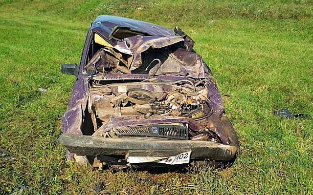 ВБашкирии засутки два водителя погибли, съехав вкювет