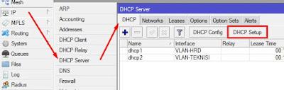 Langkah-langkah dhcp server setup