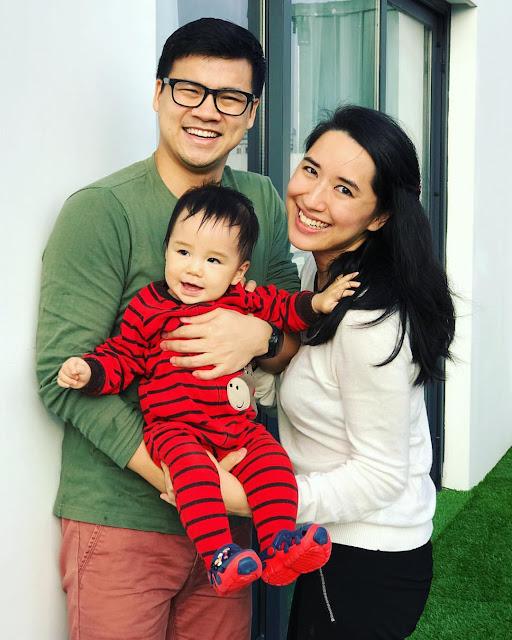 Đào Chi Anh bên gia đình