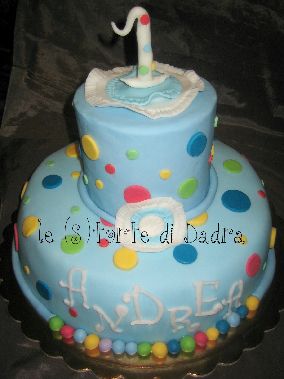 Storta Piena Di Colori Per Il Primo Compleanno Di Andrea